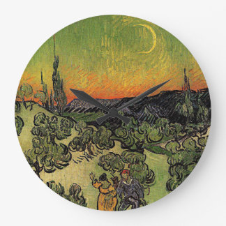 Van Gogh's 'Landscape w/ Couple Walking' Clock