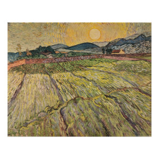 Van Gogh's Landscape with Ploughed Fields (1899) Posters