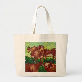 Van Gogh's 'Les Vaches' Tote Bag Jumbo Tote Bag