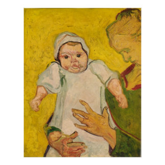 "Van Gogh's ""Mother Roulin and Her Baby"" (1888) Poster"