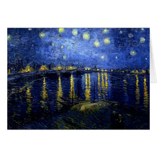 Van Gogh's painting, Starry Night over the Rhone Card