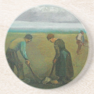Van Gogh's Peasants or Farmers Planting Potatoes Coaster