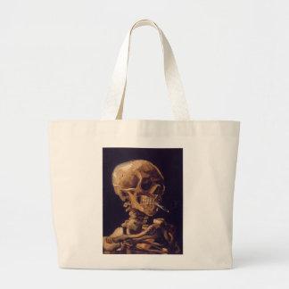 Van Gogh's 'Skull w/  a Burning Cigarette' Bag Jumbo Tote Bag