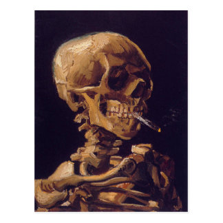 Van Gogh's 'Skull w/  a Burning Cigarette' Card