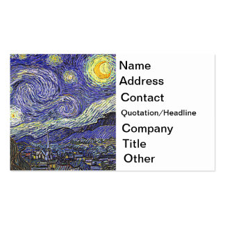 Van Gogh's 'Starry Night' Business Card Template