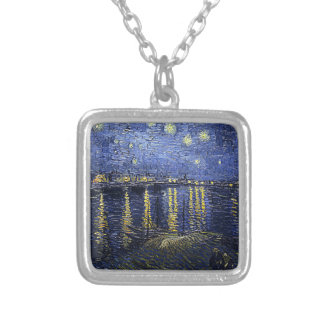 Van Gogh's 'Starry Night Over the Rhone' Necklace