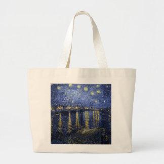 Van Gogh's 'Starry Night Over the Rhone' Tote Bag Jumbo Tote Bag