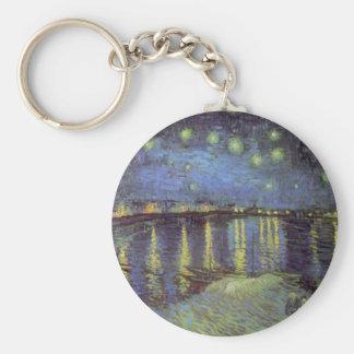 Van Gogh's Starry Night Painting Key Ring
