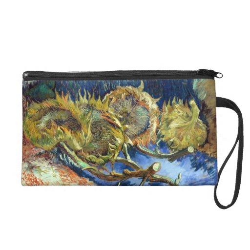 Van Gogh's Sunflowers Wristlet Purses