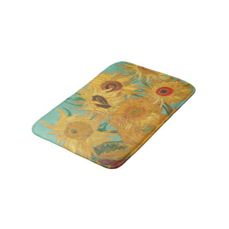 Van Gogh's Sunflowers Bath Mat