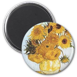 Van Gogh's Sunflowers Magnet