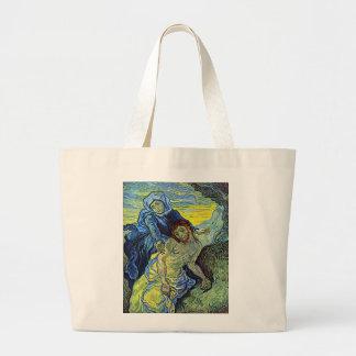 Van Gogh's 'The Pieta' Tote Bag Jumbo Tote Bag