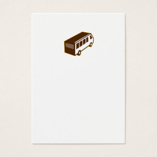 Van High Angle View Isolated Retro Business Card