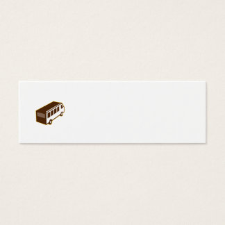 Van High Angle View Isolated Retro Mini Business Card