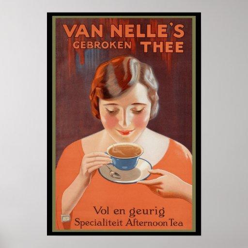Van Nelle's Tea Advertising Poster