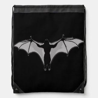 Van Pyre Bat Drawstring Bag (Grey)