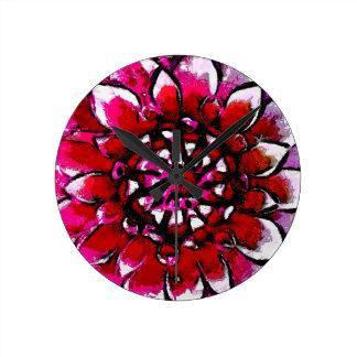 Van Spun Floral Wallclock
