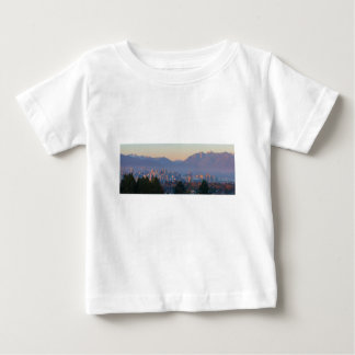 Vancouver BC Downtown Cityscape at Sunset Panorama Baby T-Shirt