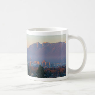 Vancouver BC Downtown Cityscape at Sunset Panorama Coffee Mug