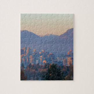 Vancouver BC Downtown Cityscape at Sunset Panorama Jigsaw Puzzle