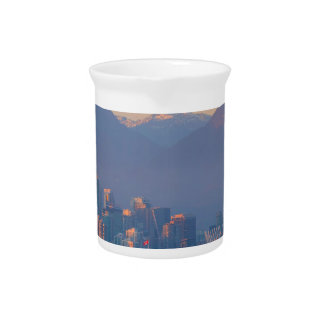Vancouver BC Downtown Cityscape at Sunset Panorama Pitcher