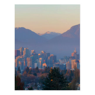 Vancouver BC Downtown Cityscape at Sunset Panorama Postcard