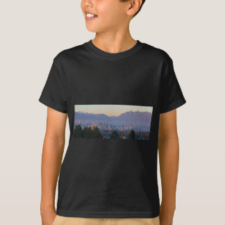 Vancouver BC Downtown Cityscape at Sunset Panorama T-Shirt