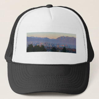 Vancouver BC Downtown Cityscape at Sunset Panorama Trucker Hat