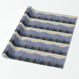 Vancouver BC Downtown Cityscape at Sunset Panorama Wrapping Paper