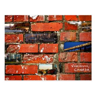 Vancouver Brick Wall Postcard