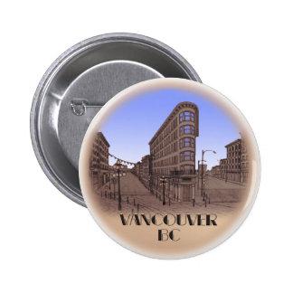 Vancouver Buttons Souvenir Buttons Gastown Art