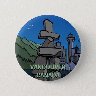 Vancouver Buttons Souvenir Buttons Inukshuk Art