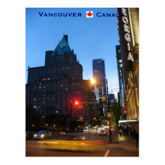 Vancouver by Night Canada Postcard