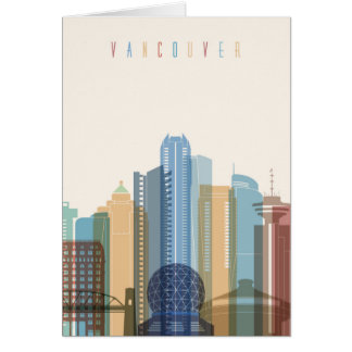Vancouver, Canada   City Skyline Card