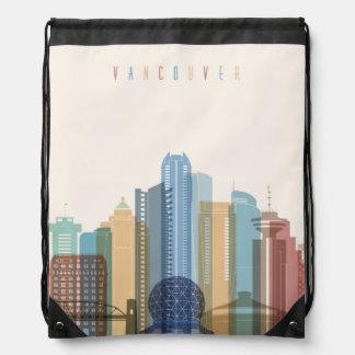 Vancouver, Canada | City Skyline Drawstring Bag