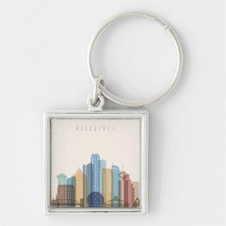 Vancouver, Canada | City Skyline Key Ring