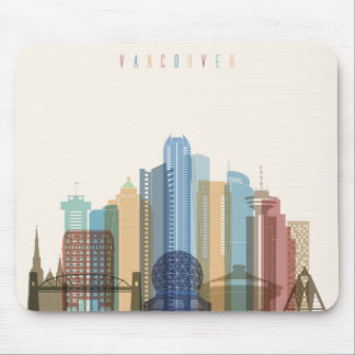 Vancouver, Canada | City Skyline Mouse Pad