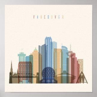 Vancouver, Canada | City Skyline Poster