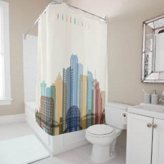 Vancouver, Canada | City Skyline Shower Curtain