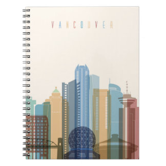 Vancouver, Canada | City Skyline Spiral Notebook