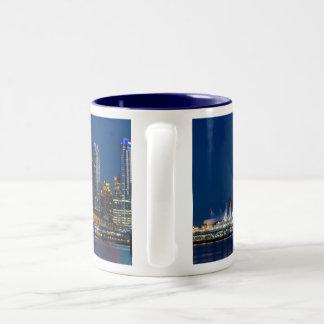 Vancouver Canada Place Skyline Two-Tone Coffee Mug