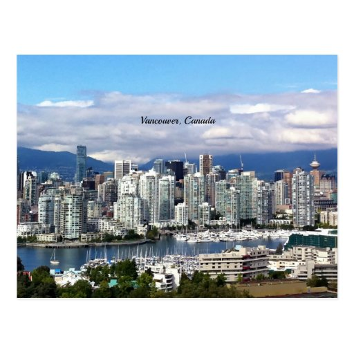 Vancouver Canada Skyline Post Card