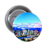 vancouver canada skyline sky clouds skyscrapers buttons