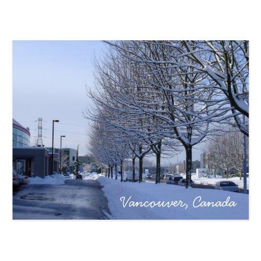 Vancouver, Canada Snow Postcard