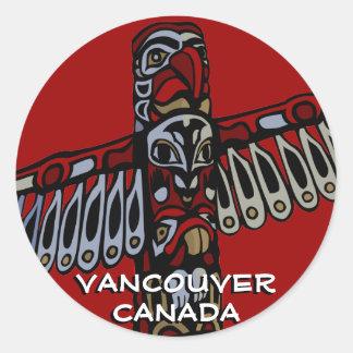 Vancouver Canada Stickers Vancouver Landmark Art