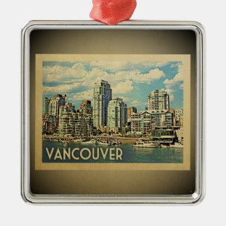 Vancouver Canada Vintage Travel Ornament