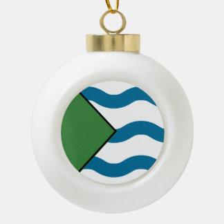 VANCOUVER Flag Ceramic Ball Decoration