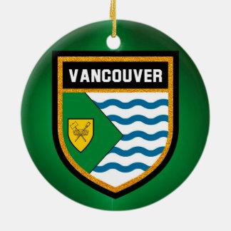 Vancouver Flag Round Ceramic Decoration