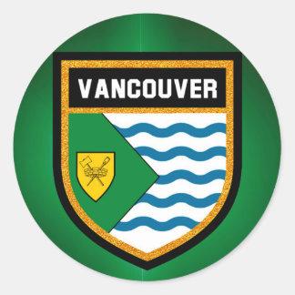 Vancouver Flag Round Sticker