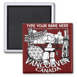 Vancouver Fridge Magnets Personalized Souvenir